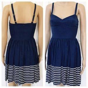 Amanda Uprichard Navy Nautical Dress